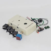 Looper PB-N1160 / 1590B bricolaje guitarra Pedales, pedales de aluminio Caja Blanca, Pedal de Pie Pedal Rojo / Verde Luces LED Interfaz de Soldadura