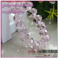 amythest rings - charm beads MM clear pink and light amythest glass beads crystal rondelles beads