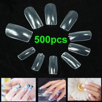 Wholesale 500pcs Acrylic Clear False Nail Half Tips Ultra thin Transparent Made in KOREA PY order lt no track