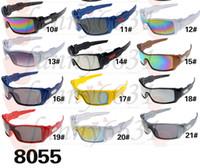 Wholesale Sun Wind Glasses - 10pcs brand new men outdoors sunglasses sports spectacles women glasses Cycling Sports wind PILOT Sun Glasses 21colors free shipping