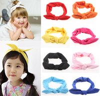 Purse head head tie - Girls Bow Headband Bunny Bow Knot Hairband Vintage Butterfly Girl Mom Parents Tie Hairband Baby New Head Wear kiki headband