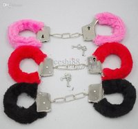 Wholesale Bondage set for foreplay sex games furry soft handcuffs shackles beginner fetish