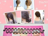 Wholesale 5 Black Braids Holder Magic Hair Styling Bun Curler Tool Maker Twist Braider DIY