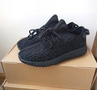 Wholesale Final quot Pirate Black quot Kanye West Yeezy Boost Running Shoes for Men and Women Fashion Kanye Shoes Yeezy Boost Low Sports Sneakers