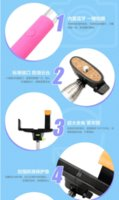 Wholesale 20pc DHL Free in1 Wireless Bluetooth Phone Monopod Selfie Stick Tripod Handheld Monopod for iPhone IOS Android Phones N009