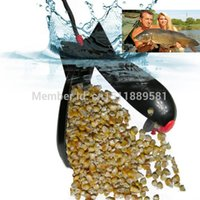 carp fishing bait - Black Color Engineering Plastic spomb Spod Bomb Free Bait Casting Device Long Distance Carp Fishing lure Tackle PVA