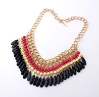 chunky necklaces - Charm Jewelry Pendant Chain Crystal Choker Chunky Statement Bib Necklace