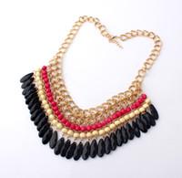 chunky jewelry - Charm Jewelry Pendant Chain Crystal Choker Chunky Statement Bib Necklace