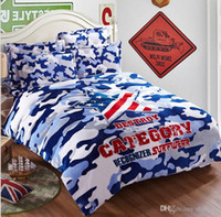 Wholesale Camouflage Army Camo bedding sets Star sign flag flannel adult american flag Bedding Sets