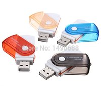 Wholesale Professional New All In One USB Adapter Micro MS M2 for SD TF MMC Memory Card Reader Writer For PC Laptop
