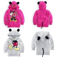 baby minnie mouse costumes - Baby Girls Boys Kids Mickey Mouse Minnie Sweatshirts D Tops Hoodies Coat Sportswear Costume Outfits Set Clothes