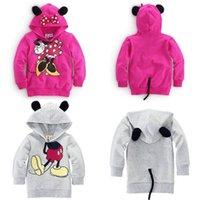 Bebés de los muchachos de los niños de Mickey Mouse Minnie Sudaderas 3D Tops sudaderas Escudo Trajes del traje de deporte Prendas