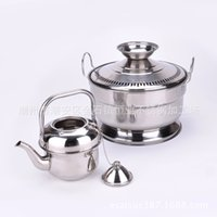 Wholesale Stainless steel kettle pot handwashing basin export products supporting access with magnetic stainless steel