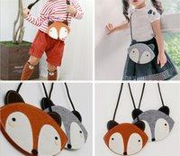 bag factory messenger - 2015 Christmas baby girls gift cute fox bag foxes purse handbag wallet infant single shoulder bags Messenger Bag factory price