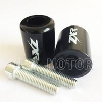 Moto pour Kawasaki Ninja 250R EX250 1987-2012 500R EX500 1994-2011 650R 2006-2012 ZX600 ZX6 636 ZX6RR 2003-2012 Black Bar Ends