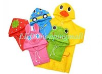 Wholesale fashion linda cartoon animal style childern ponch cute animal shaped kid s raincoat rainwear order lt no track