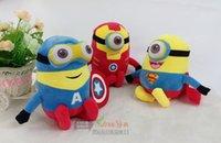 Wholesale 3D Despicable ME Minion Thor Hulk spiderman batman Iron superman The Avengers Minion plush toys