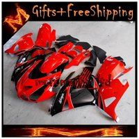 Wholesale ZX14R ABS Fairing For Kawasaki ZX R red black ZX R Silvery white Ninja