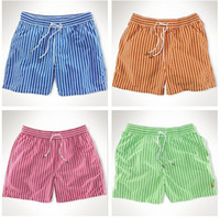 Wholesale Mens Swimming Shorts striped Fashion Mens Swimwear Mens swim Trunks Quick dry mens Beach shorts pants Top quality Free ship D233