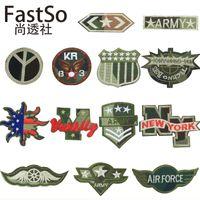 Coat Of Arms Fallout Badge de tissu bâton broderie armée Patch Vêtements écologiques Vêtements mettre les enfants Down Jacket Applique bricolage