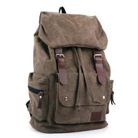 Wholesale New Fashion Vintage men s backpacks Patchwork Vintage bag Canvas Shoulder bags Backpack schoolbag travel bags mochila