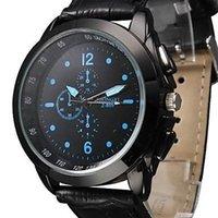 Wholesale Brand new Men s Watch Dress Watch Elegant Style Durability PU Casual living waterproof