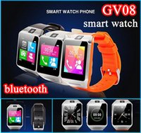оптовых gv08 smart watches-Smart Bluetooth часы GV08 для Android смарт-телефон наручные часы с 1,3-мегапиксельной камеры поддержка SIM-карты 32 Гб TF карты Anti-lost 1.5 сенсорный экран