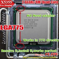 Wholesale For INTEL XEON X5355 GHz M Mhz CPU equal to LGA775 Core Quad Q6600 CPU works on LGA775 mainboard no need adapter
