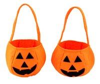 Totes candy handbags - Pumpkin Handbag Clothing Accessories Barrels Children Gift Nonwoven Props Hand Bucket Cute Candy HandBag