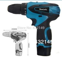 l.e.d. - Promotion Cordless drill V Two pieces Li batteries L E D light Two speed professional quality