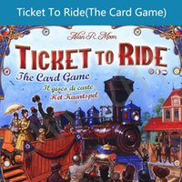 Wholesale english Ticket to Ride the card game nice TABLE GAME desktop board game cards poker with English Instructions