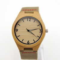 bamboo desk - New Arrive Japan Miyota Sports Watches Leather Bamboo Wooden Pure Natural Bamboo Looked At The Wooden Desk Epithelium
