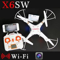 Wholesale X6sw WIFI Fpv Toys Camera rc helicopter drone quadcopter gopro professional drones with camera VS X5SW X600 Drone Original Box