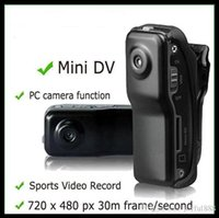 Wholesale Black Sports Video Camera MD80 with retail box Webcam web Cam Hot Selling Mini DVR Camera Mini DV