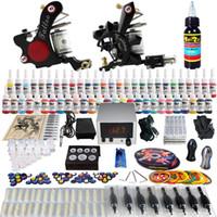 Beginner Kit professional tattoo kit - Sales Complete Tattoo Kit Pro Machine Guns color Inks Power Supply Needle Grips TK225