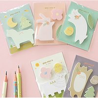 Wholesale Bookmark Marker New Funny Animals Cartoon Post It Memo Flags Sticky Notes Office School Supplies HOT