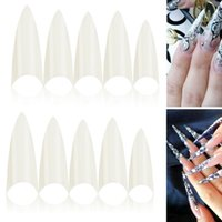 Wholesale Size French Nail Tips Acrylic Natural Artificial False Nail Art Tips Decal Stickers Tip For Women Girl