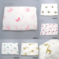 Wholesale Piece New Arrival Comfortable Sheets Cotton Butterfly Bee Elephant Animal Pattern Blanket