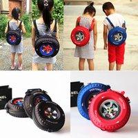 auto wheel bag - Fashion children backpack kids school bag mini wheel bag EVA auto tyre bag for boys and girls baby snack bag