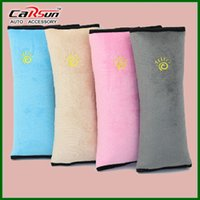 pink car seat covers - Children Car Covers Safety Seat Belt Pillow Car Seat Cover Baby Protection Covers Shoulder Pillow Blue Pink Grey Colors CS