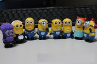8pcs / set Délicieux Me 2 Minion Character Display Figures Enfant Toy Cake Toppers Décor Cartoon Film PVC ActionS2350