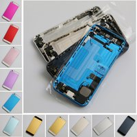 Wholesale 11 kind of color by dhl ems Completed Full Metal Back Cover Housing Midframe Replacement For iPhone back housing assembly