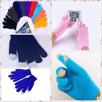 Wholesale 2014 colors Pure color new Halloween christmas hot selling gloves pure colorl warm knit winter man woman gloves topb504