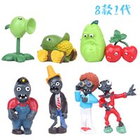 best garden games - garden warfer New Plants vs zombies plants2 Action Figures PVZ Set PVC morden garfare kids Toys game Best Gift dhl