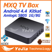 tv box - 10PCS Original KODI MXQ TV Box Amlogic S805 Quad Core Cortex A5 Mali Quad Core H H KODI Pre installed MX MXQ Android TV