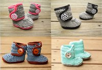 Unisex Winter Cotton Free shipping!Knitted newborn Booties!Handmade Crochet toddler snow boots,cotton yarn baby shoes,winter soft walking shoes.9pairs 18 pcs