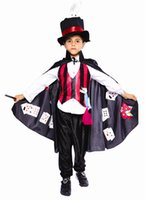 Wholesale 2015 New Arrival Hot Sale Real Fantasias Cosplay ePacket Children s Costumes Halloween Party Magical Magician Boy Costume