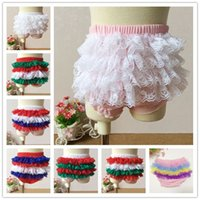 Others bb photos - Baby Shower Favor Comfort Toddler Girls Lace Ruffle Shorts Pants Baby Bloomers Underwear Tutu BB Shorts Bottoms Photo props