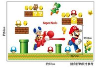 best bedroom decor - Best gift for children Classical Super Mario wall stikers for kids room home decor easy Decal With cm D dolphins AY7062