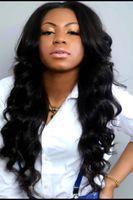 beautiful remy hair - Beautiful Wavy Hair Body Wave Human Hair Full Lace Wig Front Lace Wig Natural Black Color Wavy Human Hair Lace Wigs Bella Hair